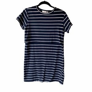 Navy Nursing Striped Dress M